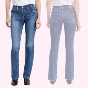 Levis Blue Denim Jeans 315 Mid Rise Shaping Boot Cut